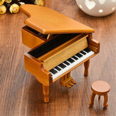 Wooden Mechanical Classical Grand Piano Music Box Collectible Gift Movement Hobbies Fashion Accessories