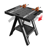 WORX WX051 Multi-Function Work Table Foldable Sawhorse Sawing Table with Quick Clamps