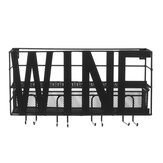 Wall-mounted Wrought Iron Rack for Goblet Bedroom Decoration