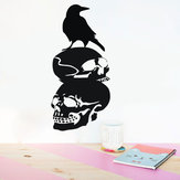 Halloween Cráneo DIY etiqueta de la pared extraíble CLORURO DE POLIVINILO Wallpapers Vinilo Art Decal Decor Impermeable pegatinas hogar Home etiqueta de la pared Poster Mural decoración para la sala de estar del dormi