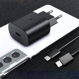 Samsung 25 W-os USB PD töltő Gyorstöltő fali töltő adapter EU/US csatlakozó 5A USB-C-USB-C kábeltámogatással AFC/QC3.0/PD3.0/PPS/FCP Samsung Galaxy S21 Note S20 ultra