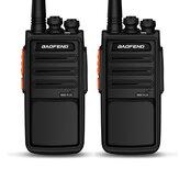 2 piezas BAOFENG EU Plug BF-888S Plus 5W 3800mAh Walkie Talkies de alta potencia UV Dual Banda 16CH Bidireccional Radio Voz más clara USB directo recargable para hotel civil