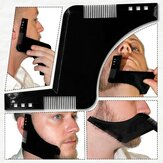 Beard Grooming Shaping Comb para Barbear Barba Simétrica Shaper Styling Template Kit Guia