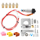 Original Gray Extruder Kit with CR10 V2 Hotend + 5Pcs MK9 1.75/0.4mm Nozzle + 3Pcs Silicone Sase for Creality 3D 3D Printer Part