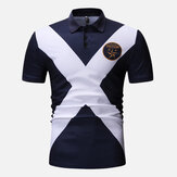 Golf Cross Fit Color Block uomo Camicia