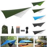 屋外テント日よけポータブルハンモックレインフライ防水テントタープキャンプバックパッキングタープ