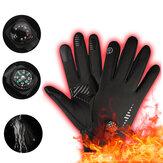 Winter Waterdichte Ski Handschoenen Met Kompas Verwarming Handschoenen Winddichte Moto Handschoenen Fietsen Winter Handschoenen