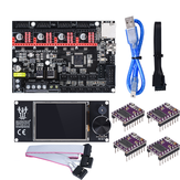 BIGTREETECH® SKR E3 DIP V1.1 32Bit Control Board + TFT24 Touch Screen+ 4Pcs DRV8825StepperMotor Driver Kit For 3D Printer