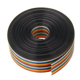 5M 1.27mm Pitch Ribbon Cable 20P Flat Color Rainbow Ribbon Cable Wire Rainbow Cable