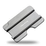 New-Bring Metal Card Holder Slim Solid Aluminum NBR Rope RFID Protection Holder ID Card Metro Card Cash Wallet For Men