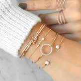 4 Pcs Sweet Bracelet Bangle Set