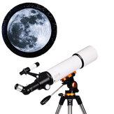 LUXUN LX-50080 20/50/60/150X teleskop astronomiczny HD Zoom refrakcyjny monokular kosmiczny o dużym powiększeniu