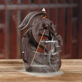 Waterfall Backflow Ceramic Dragon Incense Burner Cone Holder Censer Home Decor