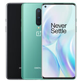 OnePlus 8 5G Global Rom 6,55 polegadas FHD + 90Hz Fluid Display NFC Android10 4300mAh 48MP Tripla câmera traseira 12GB 256GB Snapdragon 865 Smartphone