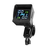Solar + USB TPMS Dual Mode 1100mAh Wodoodporny wyświetlacz LCD Motocykl Real System monitorowania ciśnienia w oponach w czasie Bezprzewodowy czujnik wewnętrzny
