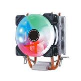 9CM Doppio Rame Tube Aurora FAI DA TE Gioco Ventola di raffreddamento CPU Radiatore Per 775 / 115x / 1366 / AMD Series