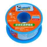 MECHANIC HBD366 0.3/0.4/0.5/0.6mm 40g Solder Wire Roll Low Temperature Lead Free Soldering Tin Wire Sn42/Bi58