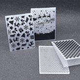 BożeNarodzeniePrzezroczystedekoracjeSitckerWyczyść pieczęcie Uszczelki silikonowe do DIY Scrapbooking Album fotograficzny Making Card