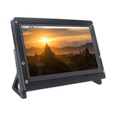 Catda 7Inch IPS HD Capacitive Touch Screen 1024*600 With Stand Case for Raspberry Pi 4B/3B+