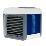Mini ventilador de ar condicionado portátil USB 3 em 1, limpador de umidificador de refrigerador de ar de 3 velocidades