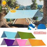3x3 متر multifunction anit-uv خيمة قماش القنب المطر الشمس الظل المظلة المأوى أرجوحة نزهة حصيرة للتخييم التنزه السفر
