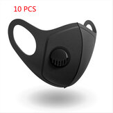 10 PCS PM2.5 Face Masks Camping Travel Cycling 3 Layer Filter Breathable Anti-dust Mouth Mask