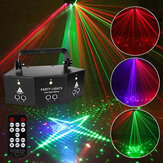 9-EYE RGB DMX proiettore LED Laser Luce remoto Controllo stroboscopico DJ Party Stage Lighting US Spina AC110V / 220V