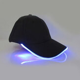 Unisex New Punk Style LED Light Baseball Cap Luminous Cap Fashion Snapback Hat Fiber Optic Hat