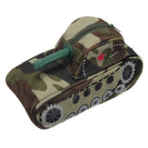 Novelty Tank Shaped Pencil Case Large Capacity Student Stationery Pen Bag Pouch Storage Box