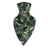 Schnelltrocknende Gesichtsmaske Winddichtes Reiten Militärisches taktisches Stirnband Sonnendichte Halskrause Tarnung Dreieckstuch