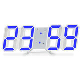 Luminous 3D Digital Clock Voice Control Wall Mounted LED Electronic Alarm Clock With Temperature Checking Office School Supplies