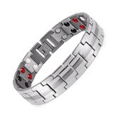 Punk Men Stainless Steel 4 in 1 Gelang Magnet Yang Kuat