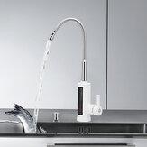 Смеситель для мгновенного нагрева горячей воды 3КВ электрический Нагреватель Температура кухни Дисплей