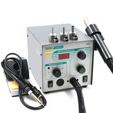 Quick 706W + 2 in 1 SMD BGA Rework Station Hot Air Spear Desoldering Station voor telefoonreparatie Lasapparaat