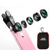 LIGINN L-515 5 in 1 Fisheye Wide Angle Macro Telescope Telephoto CPL Lens for Mobile Phone Smartphone