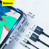 Baseus Upgrade Version USB-C Hub Adapter Dockingstation mit 2 * USB 3.0 / 60W Type-C PD / 4K HD Display / 3,5 mm Audiobuchse / TF Speicherkartenleser Nicht original
