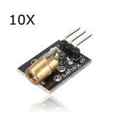 10Pcs KY-008 Laser Módulo transmissor AVR PIC Geekcreit para Arduino - produtos que funcionam com placas Arduino oficiais