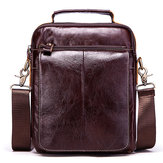 Men Genuine Leather Business Casual Vintage Bag