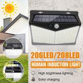 Imperméable à l'eau LED solaire lumière corps Induction extérieure nuit applique murale pour jardin clôture patio
