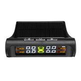 Solar Car TPMS Tire Pressure Alarm Monitor System 4 Screen Interior / Warning External Temperature Sensor T01N T01C Visture