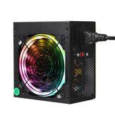 800W Power Supply RGB LED Silent Fan ATX 12V 24pin PC Desktop PCI SATA