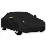 Black Full Car Cover Waterproof Sun Rain Heat Dust UV Resistant Protection 190T