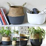 Panier de fleurs support de stockage pot de fleur organisateur de blanchisserie sac décoration de jardin