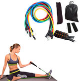 KALOAD 11 Pcs Rope Tarik Kit Kebugaran Perlawanan Band Latihan Sport Body Training Yoga Peralatan