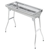 Large BBQ Barbecue Steel Charcoal Grill Portable Outdoor Picnic Cooking Stove