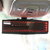 3D Car LED Interior Anti-Glare Rearview Mirror HD Wide Angle Plane Reflector Mirror Adjustable