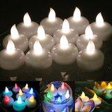12pcs sans flamme LED lampe de table bougie lumière Batterie exploité mariage étanche Party Decor