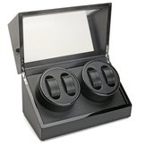 4+0 Luxury Automatic Motor Rotation Wood Watch Winder Box