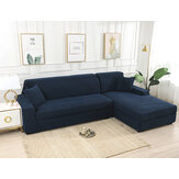 Dark Blue Stretch Elastic Sofa Cover Solid Non Slip Soft Slipcover Washable Couch Furniture Protector for Living Room