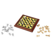 1:12 Échelle Dollhouse Miniature Metal Chess Set Conseil Jouets Maison Ornements